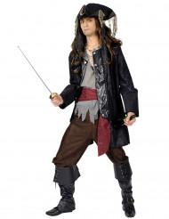 Disfraz capitán pirata barba negra hombre