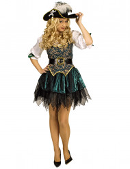 Disfraz pirata de las islas-mujer