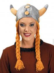 Casco de vikingo con trenzas adulto
