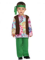 Disfraz de hippie multicolor puntos bebé