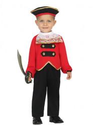 Disfraz de comandante pirata bebé