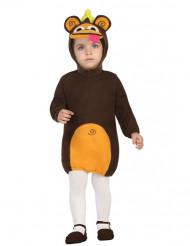 Disfraz de mono bebé con capucha