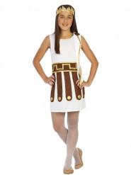 Disfraz de romana blanco niña
