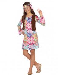 Disfraz de hippie psicodélico niña