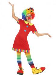 Disfraz payaso vestido rojo niña