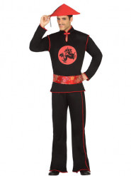 Disfraz chino negro hombre
