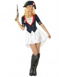 Disfraz de soldado francés mujer