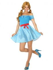 Disfraz años 50 vestido mujer