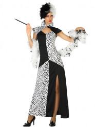 Disfraz de vestido dálmata mujer