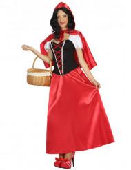 Disfraz caperucita roja largo mujer