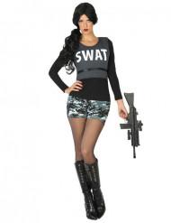 Disfraz de SWAT militar mujer