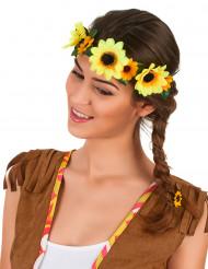 Corona de flores girasol adulto