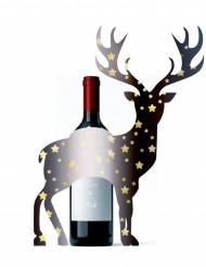 Decoración para botella ciervo 33 x 43 cm Navidad