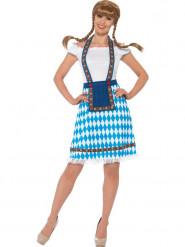 Disfraz bávara azul y blanco mujer