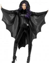 Capa negra murciélago mujer