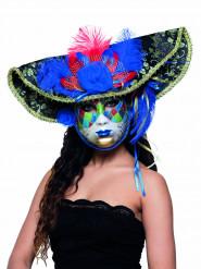 Máscara veneciana pirata color adulto