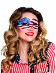 Antifaz purpurina USA mujer