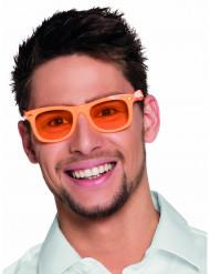Gafas naranja fluorescentes años 50 adulto