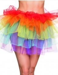 Falda multicolor mujer