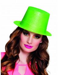Sombrero de copa verde fluorescente