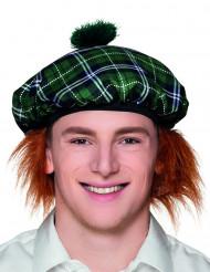 Boina escocesa verde con pelo adulto