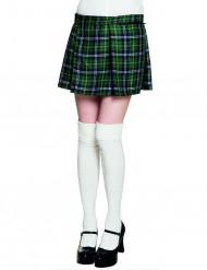 Kilt escocés verde mujer