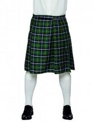 Kilt escocés verde hombre