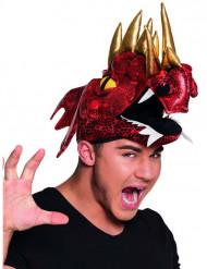 Sombrero dragón chino rojo adulto