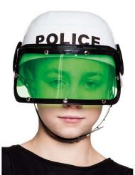 Casco de Policía Blanco Niño
