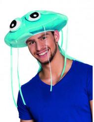 Sombrero de medusa azul adulto