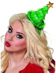 Mini sombrero árbol de Navidad mujer