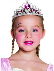Diadema princesa de corazón niña