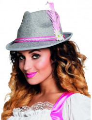 Sombrero bávaro rosa adulto