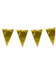Guirnalda con banderines gigantes dorados 10 m