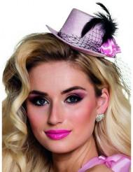 Mini sombrero rosa años 20 mujer