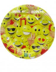 10 Platos de cartón 23 cm Emoji™