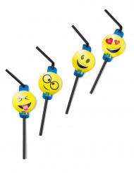 8 Pajitas con decoraciones Emoticonos Imoji™