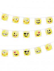 Guirlanda de banderines Emoticonos Imoji™ 8m