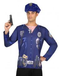 Camiseta policía hombre