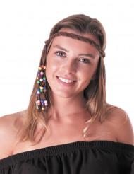 Diadema hippie trenza adulto