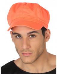 Gorra naranja fluorescente adulto