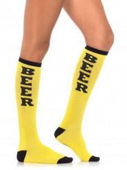 Calcetines largos amarillos adulto Fiesta de la Cerveza