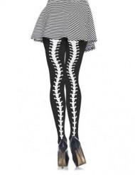 Pantys esqueleto con curvas mujer Halloween