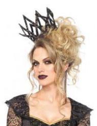 Corona imperial negra y dorada mujer