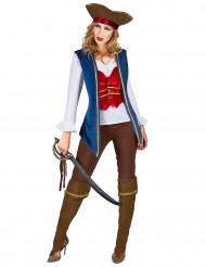 Disfraz de pirata terciopelo para mujer