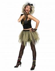 Disfraz de disco rock tutú años 80 para mujer