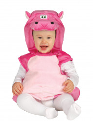 Disfraz hipopótamo rosa bebé
