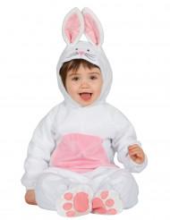 Disfraz de conejo blanco y rosa bebé