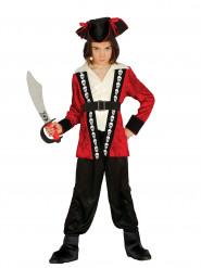Disfraz de capitán pirata calavera niño