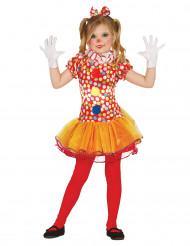 Disfraz de payaso multicolor con tutú niña